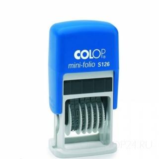 Штамп-нумератор Colop S126OC Express, 6 шести разрядный (шрифт 3.8мм)