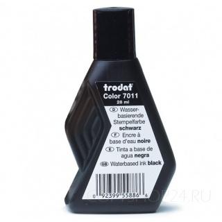 Штемпельная краска TRODAT 7011 на водной основе, черная, 28мл.