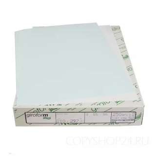Бумага для самокопирующих бланков Giroform голубого цвета А4 210х297 мм (500 листов) Верхний слой