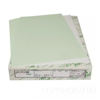 Бумага для самокопирующих бланков Giroform зеленого цвета А4 210х297 мм (500 листов)  Верхний слой