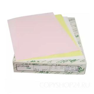 Бумага для самокопирующих бланков Giroform розового цвета А3+ 430х305 мм (500 листов) Верхний слой
