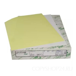 Бумага для самокопирующих бланков Giroform желтого цвета А4 210х297 мм (500 листов)  Верхний слой