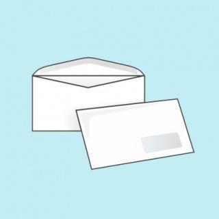 Белый офсет, 80 гр/м2, Автомат клапан, Декстрин, С окном